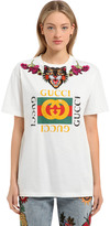 Gucci Embroidered Printed Jersey T-Shirt