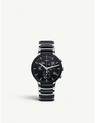Rado Women's Black R30130152 Centrix Stainless Steel And Ceramic Watch
