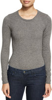 Dolce Vita Marlowe Long-Sleeve Knit Bodysuit, Gray