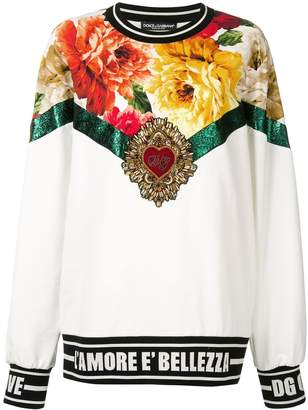 Dolce & Gabbana bead embroidery sweater