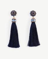 Ann Taylor Jeweled Silk Tassel Earrings