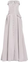 Carolina Herrera Strapless Bustier Trench Gown