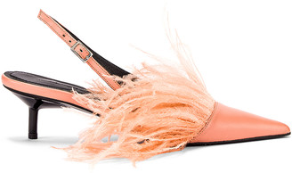 Marques Almeida Marques ' Almeida Feather Slingback in Pink | FWRD