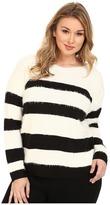 DKNY Stripe Eyelash Pullover