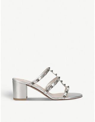 Valentino Rockstud leather heeled mules