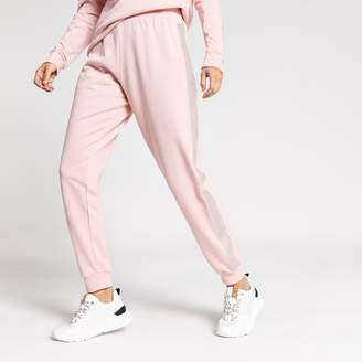 River Island Womens Pink diamante embellished side joggers