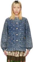 Gucci Blue Denim Crystal Jacket