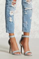 Forever 21 Denim Ankle-Strap Stilettos