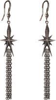 Dominique Cohen FINE JEWELRY dom by Gunmetal Deco Star Tassel Earrings