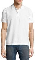 Just Cavalli Tonal Animal Jacquard Polo Shirt, White