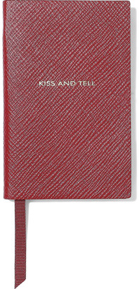 Smythson Wafer Kiss And Tell Textured-leather Notebook