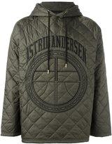 Astrid Andersen - quilted hoodie - men - Polyamide/Polyester - M