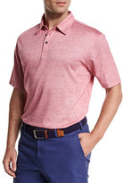 Peter Millar Linen-Blend Short-Sleeve Polo Shirt, Pink