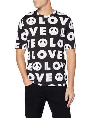 Love Moschino Men's Regular Fit Short Sleeve T-Shirt_Allover Love Prints