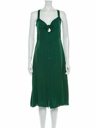 Reformation V-Neck Midi Length Dress w/ Tags Green