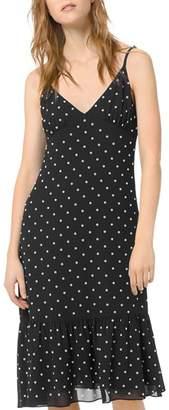 MICHAEL Michael Kors Ruffled Embellished Midi Slip Dress