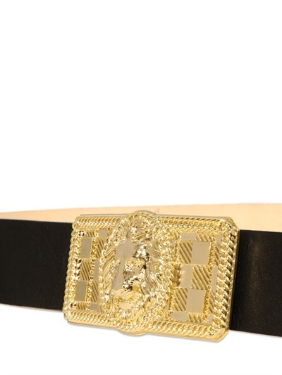 Balmain 40mm Leather Low Waisted Belt
