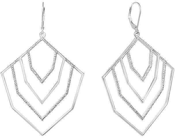 FINE JEWELRY Diamond Addiction 1/10 CT. T.W. Diamond Drop Earrings