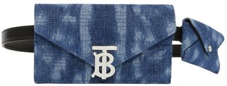 Burberry Belted Quilted Denim TB Envelope Clutch