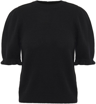 Frame Ruffle-trimmed Cashmere Top