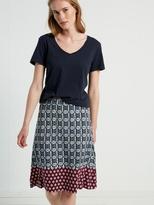 White Stuff Decorative geo print skirt
