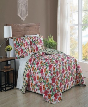 Geneva Home Fashion Poppy 3-pc Queen Reversible Quilt Set