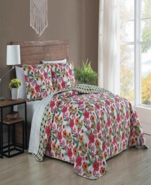Geneva Home Fashion Poppy 3-pc Queen Reversible Quilt Set