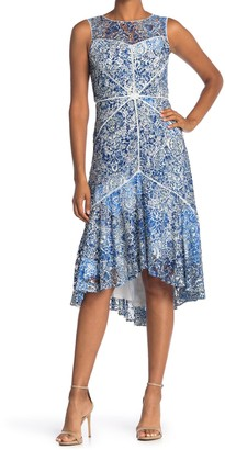 Taylor Printed Lace Lattice Dress