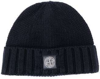 Stone Island Compass Badge Beanie