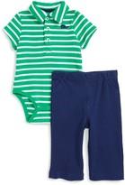 Little Me Infant Boy's Whale Polo Bodysuit & Pants Set