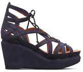Kenneth Cole Joy Lace Up Nubuck Wedge