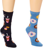 Denim Blue & Black Coffee Shop Two-Pair Socks Set