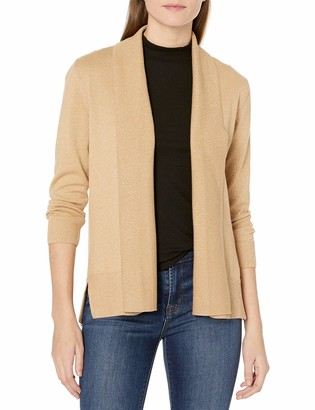 Kasper Women's 3/4 Sleeve Shawl Collar Open Cardigan (2)