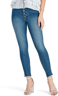 Sam Edelman The Stiletto Raw Hem High Waist Ankle Skinny Jeans