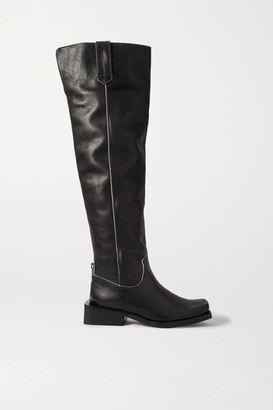 Ganni Mc Leather Over-the-knee Boots - Black