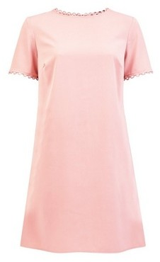 Dorothy Perkins Womens **Blush Trim Shift Dress