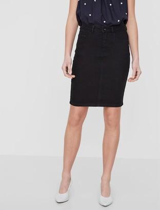 Vero Moda Denim Straight Skirt