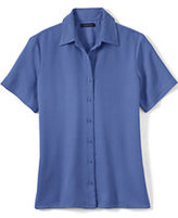 Classic Women's Regular Short Sleeve Camp Shirt-Blackberry Knots