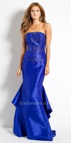 Camille La Vie Stretch Taffeta Tiered Evening Dress