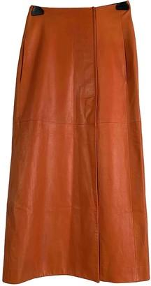 Lanvin Orange Leather Skirt for Women