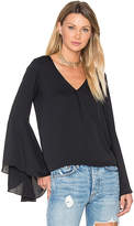 Amanda Uprichard Laura Top in Black