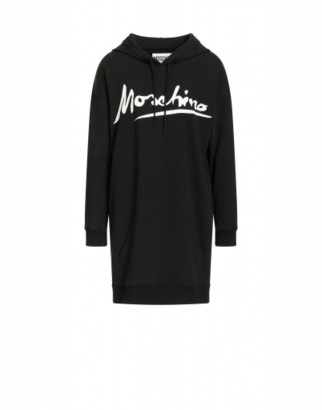 Moschino Jersey Dress Logo Signature Woman Black Size 36 It - (2 Us)