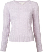 Marc Jacobs cable knit hole sweater - women - Cashmere - XS