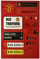 Manchester United FC Childrens/Kids Official Football Sticker Set