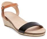 Merona Women's Eve Footbed Wedge Quarter Strap Sandals