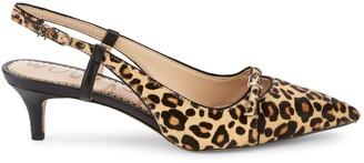 Sam Edelman Denia Leopard-Print Calf Hair Slingback Pumps