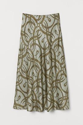 H&M Patterned satin skirt