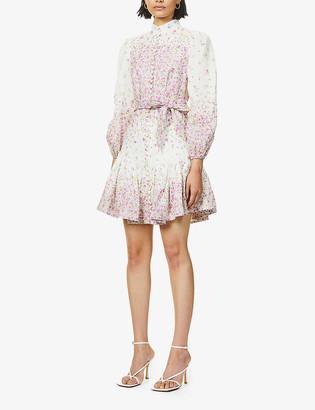Zimmermann Carnaby floral-print linen mini dress