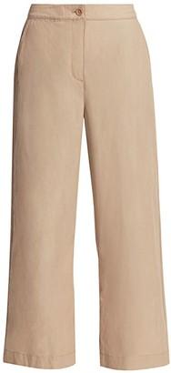 Eileen Fisher Organic Cotton Wide-Leg Pants