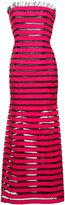 Oscar de la Renta strapless ribbon gown